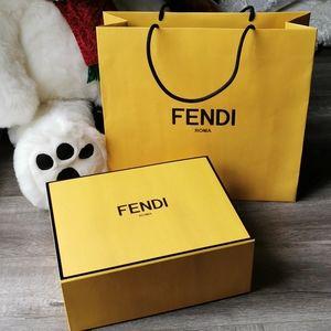 Fendi Gift Box and Paper Shopping Bag Set